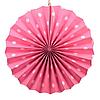 Веерный круг картон 30см розовый 0020