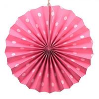 Веерный круг картон 30см розовый 0020, фото 1
