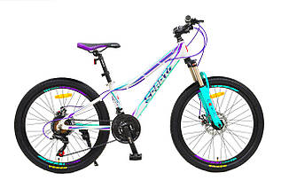 "Велосипед Sparto 24 Luсki DD 13"" 2020 бело-фиолетово-бирюзовый"