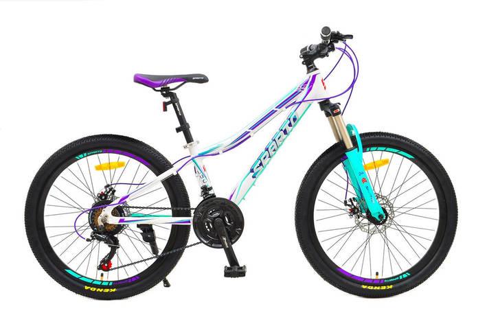 "Велосипед Sparto 24 Luсki DD 13"" 2020 бело-фиолетово-бирюзовый, фото 2"