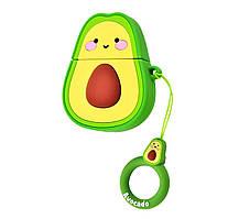 Чехол Young Style (+ кольцо) к наушникам Apple AirPods (Avocado)