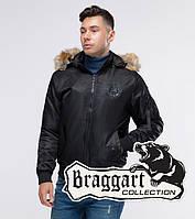Мужская осенняя куртка бомбер Braggart Youth с мехом черный