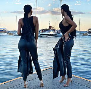 """Жіночі модні штани """"Шкіра Класика"""" (14-051)"""
