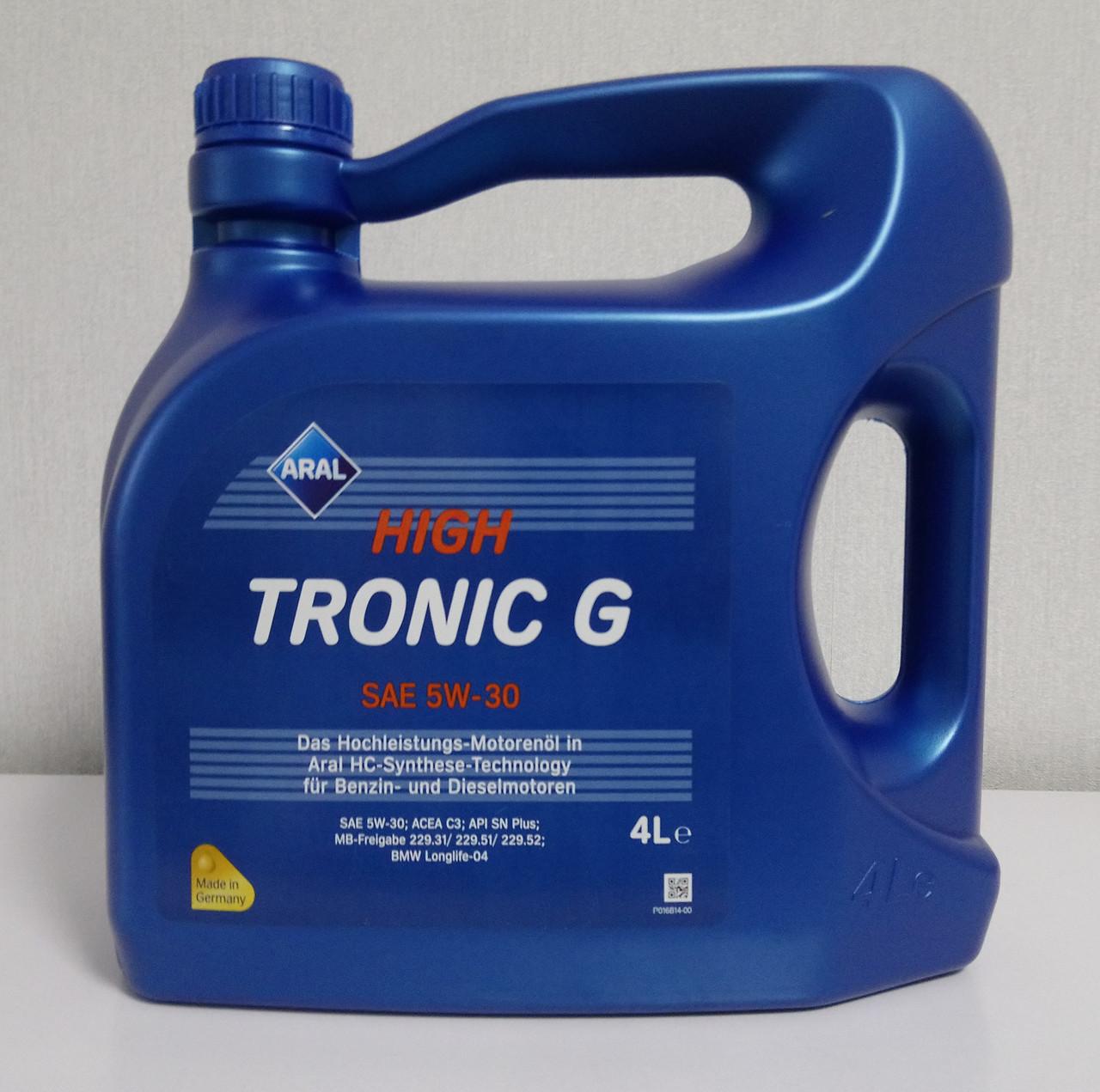 Синтетическое моторное масло Aral HighTronic G 5W-30