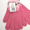 Зимние детские ангоровые перчатки для девочек подростков, фото 4