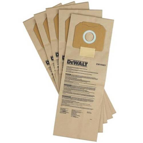 Мешки одноразовые для пылесоса строительного DWV902L DeWALT (DWV9401) 5 штук