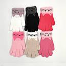 Зимние детские ангоровые перчатки для девочек подростков, фото 2