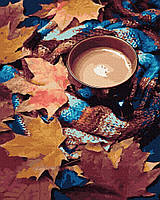 Картины красками по номерам на холсте рисование картин по номерам Согревающее какао 40х50 см