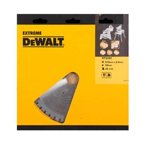 Диск пильный 216 x 30 мм DeWALT DT4320