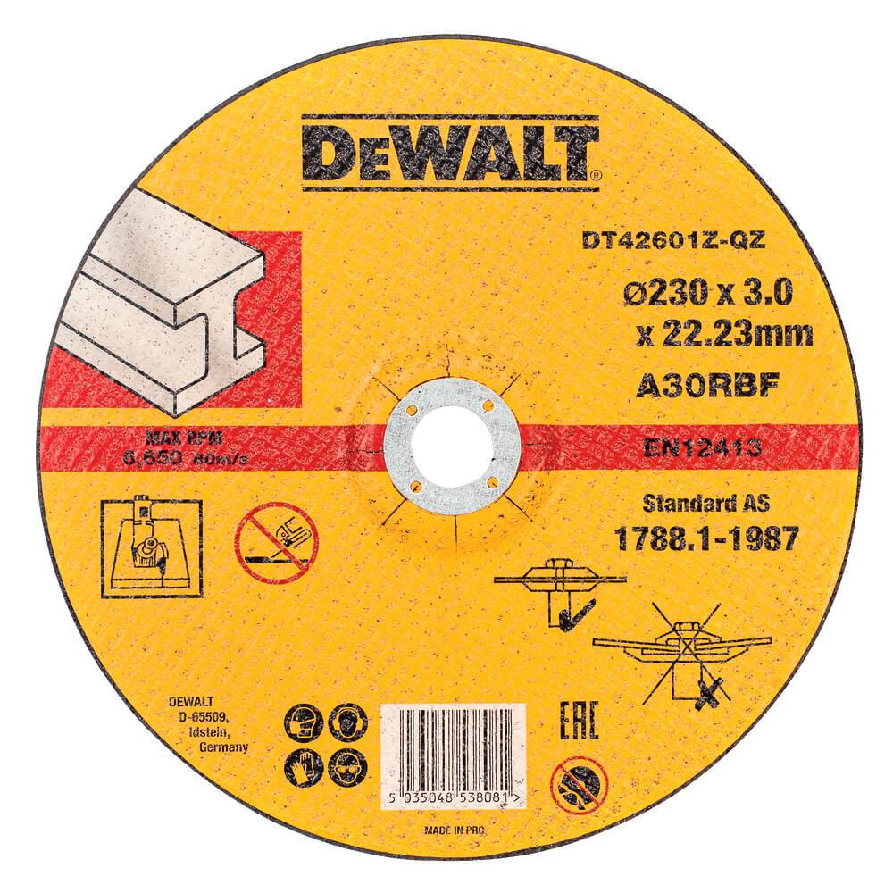 Круг отрезной 230 x 3 x 22,2 мм DeWALT DT42601Z