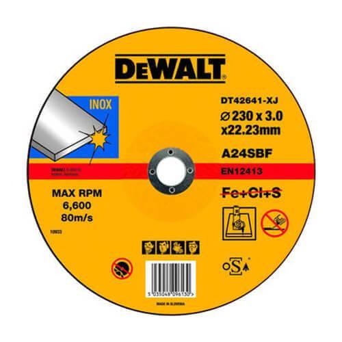 Круг отрезной 230 x 3 x 22,2 мм DeWALT DT42641