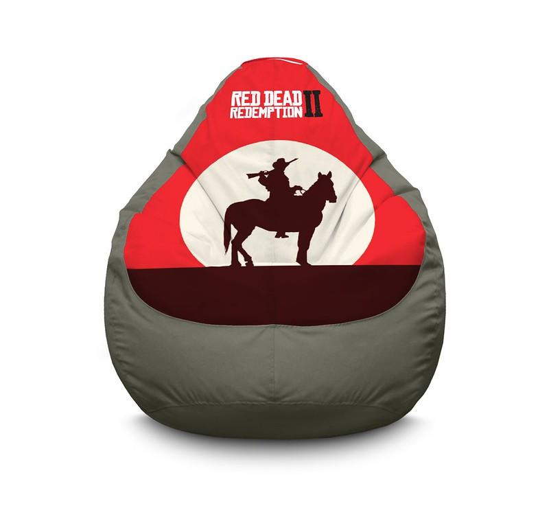 """Кресло мешок """"RDR 2. Horseman and sunset"""" Оксфорд"""
