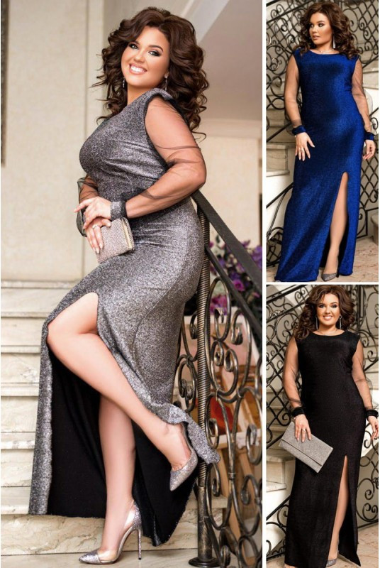 Красивое блестяще вечернее платье Ферарри