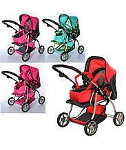 Дитяча коляска для ляльки 9672 Мелого Melogo Різні кольори