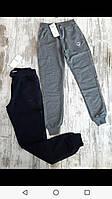 Спортивные штаны для девочки на 13-16 лет синего, серого цвета с карманами оптом