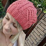 Ажурная женская шапка, фото 2