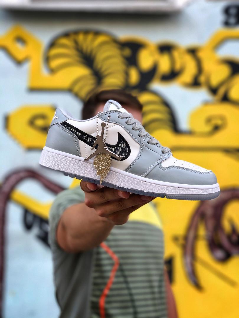 Air Jordan 1 Mid Женские осенние серые кожаные кроссовки. Женские кроссовки на шнурках