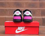 Nike Air Force  1 Shadow Removable Женские осенние черные кожаные кроссовки. Женские кроссовки на шнурках, фото 4
