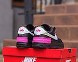 Nike Air Force  1 Shadow Removable Женские осенние черные кожаные кроссовки. Женские кроссовки на шнурках, фото 5