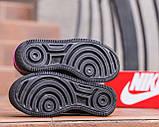 Nike Air Force  1 Shadow Removable Женские осенние черные кожаные кроссовки. Женские кроссовки на шнурках, фото 7