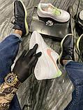 Nike Air Force Женские осенние белые кожаные кроссовки. Женские кроссовки на шнурках, фото 3