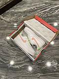 Nike Air Force Женские осенние белые кожаные кроссовки. Женские кроссовки на шнурках, фото 4