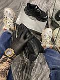 Balenciaga Triple S Женские осенние черные текстильные кроссовки. Женские кроссовки на шнурках, фото 2