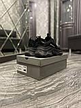 Balenciaga Triple S Женские осенние черные текстильные кроссовки. Женские кроссовки на шнурках, фото 6