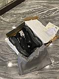 Balenciaga Triple S Женские осенние черные текстильные кроссовки. Женские кроссовки на шнурках, фото 9