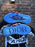 Air Jordan Dior Женские осенние серые кожаные кроссовки. Женские кроссовки на шнурках, фото 3