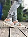 Air Jordan 1 Retro Mid Milan  Женские осенние бежевые кожаные кроссовки. Женские кроссовки на шнурках, фото 6