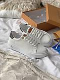 TIME OUT LV ESCALE  Женские осенние белые кожаные кроссовки. Женские кроссовки на шнурках, фото 2