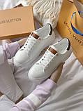 TIME OUT LV ESCALE  Женские осенние белые кожаные кроссовки. Женские кроссовки на шнурках, фото 3