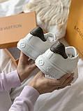 TIME OUT LV ESCALE  Женские осенние белые кожаные кроссовки. Женские кроссовки на шнурках, фото 5