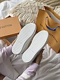 TIME OUT LV ESCALE  Женские осенние белые кожаные кроссовки. Женские кроссовки на шнурках, фото 7