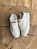 TIME OUT LV ESCALE  Женские осенние белые кожаные кроссовки. Женские кроссовки на шнурках, фото 8