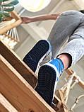 Air Jordan 1 Retro Женские осенние синие кожаные кроссовки. Женские кроссовки на шнурках, фото 4