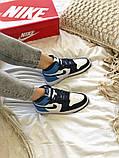 Air Jordan 1 Retro Женские осенние синие кожаные кроссовки. Женские кроссовки на шнурках, фото 9