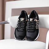 New Balance 547  Женские осенние черные замшевые кроссовки. Женские кроссовки на шнурках, фото 2