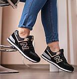 New Balance 547  Женские осенние черные замшевые кроссовки. Женские кроссовки на шнурках, фото 10