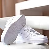 Nike Air Force Shadow  Женские осенние белые кожаные кроссовки. Женские кроссовки на шнурках, фото 7