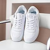Nike Air Force Shadow  Женские осенние белые кожаные кроссовки. Женские кроссовки на шнурках, фото 9