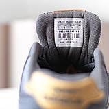 New Balance 574  Женские осенние серые замшевые кроссовки. Женские кроссовки на шнурках, фото 9
