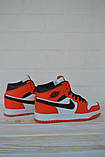 Nike Air Jordan Женские осенние красные кожаные кроссовки. Женские кроссовки на шнурках, фото 6