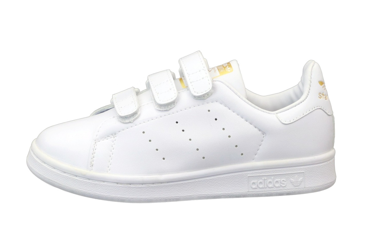 Adidas Stan Smіth  Женские осенние белые кожаные кроссовки. Женские кроссовки на шнурках