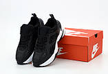 Nike M2K Tekno  Женские осенние черные кожаные кроссовки. Женские кроссовки на шнурках, фото 5