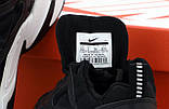 Nike M2K Tekno  Женские осенние черные кожаные кроссовки. Женские кроссовки на шнурках, фото 7