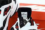 Nike M2K Tekno  Женские осенние бело-черные кожаные кроссовки. Женские кроссовки на шнурках, фото 5