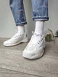 WMNS NIKE ZOOM 2K Женские осенние белые кожаные кроссовки. Женские кроссовки на шнурках, фото 3