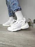 WMNS NIKE ZOOM 2K Женские осенние белые кожаные кроссовки. Женские кроссовки на шнурках, фото 4